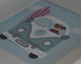 Pictures children in relief and custom - van girl