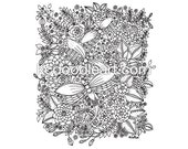 Instant Digital Download, find the dragonflies coloring page for adult and children