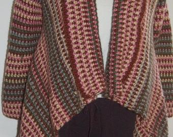 Striped Asymmetrical Sweater