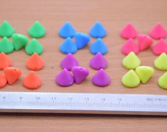 80pcs color mixing  plastic bullet spike Rivets supply,colorized plastic bullet rivet charm,plastic rivets wholesale