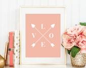 Nursery Decor, Quote Print, Quote Postcard, Nursery Printable, Love Print, Love Quote, Home Decor, Wall Print, Typography, Home Decor