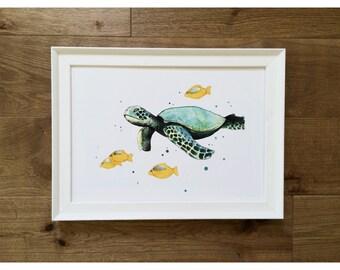 """Print illustration """"Sea Turtle"""""""
