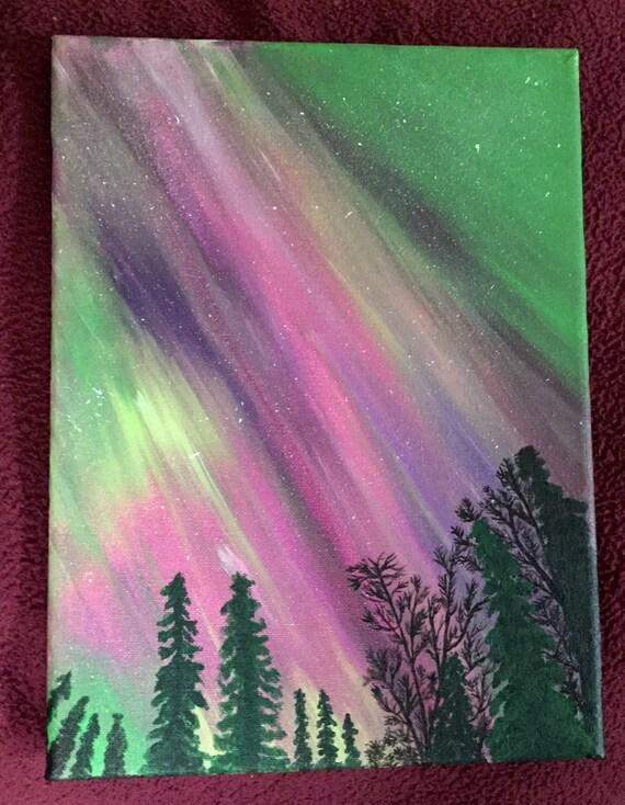 Aurora Borealis Art Northern Lights Art Acrylic By