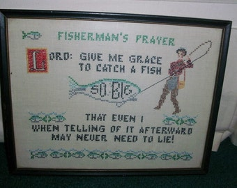 Fisherman's Prayer Vintage Needlepoint