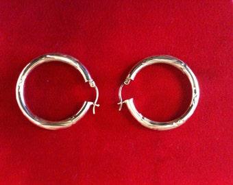 14 k Yellow Gold Hoops Earrings, 4.2 Gm,Shipping Free.