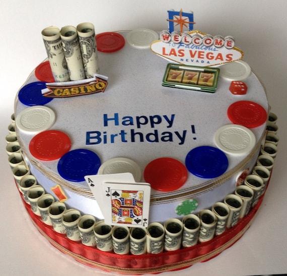 Items Similar To Casino Las Vegas Themed Happy Birthday
