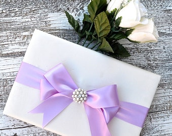 Wedding Guest Book - Ivory, Wedding Book, Choose your Design