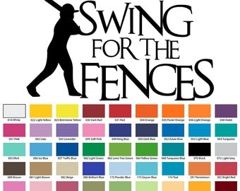 Swing For The Fences Wall Quote
