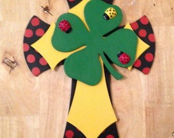 Lady Bug Wall Cross 15""