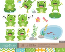 Little Frog Digital Clipart and Papers