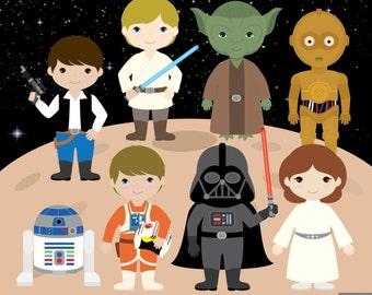 Star Wars Digital Clipart