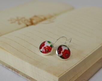 Earrings Les Fleurs Rouges