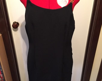 90s Black Dress with Gold Chain Straps