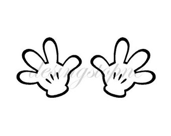 Mickey Mouse Glove Silhouette File