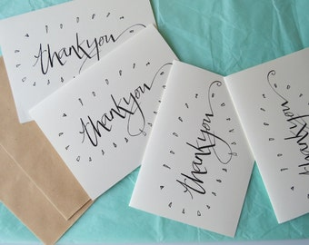 Thank you card - set of six