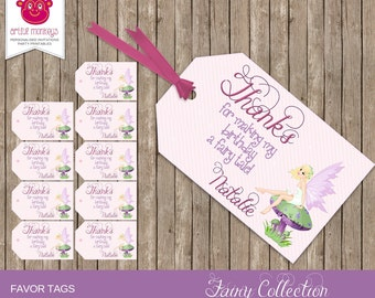Personalised and Printable Fairy Favour Tags