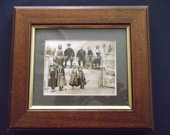 Framed Sepia Photograph of Victorian Children