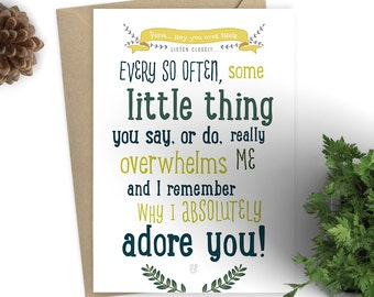 I Absolutely Adore You - Greeting Card