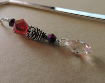 Metal Owl Beaded Bookmark