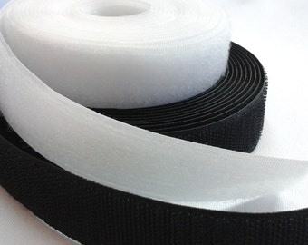 Velcro Hook And Loop 1 Inch - Color Black or White