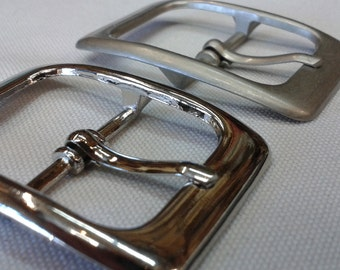 """Belt Buckles In Silver or Matte Finish - Size 1"""" X 1  5/16"""" (1 buckle)"""