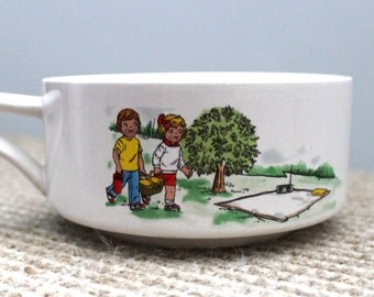 Retro Campbell's Soup Bowl Characters Picnic - Collectible