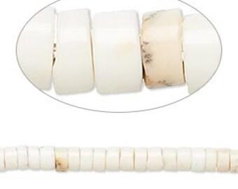 Chrysoprase Bead, Lemon Chrysoprase, Heishi bead, 4x2mm to 5x3mm, 15 inch strand, D491