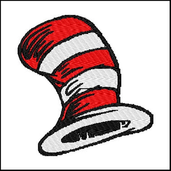 Dr Seuss Hat Embroidery Design