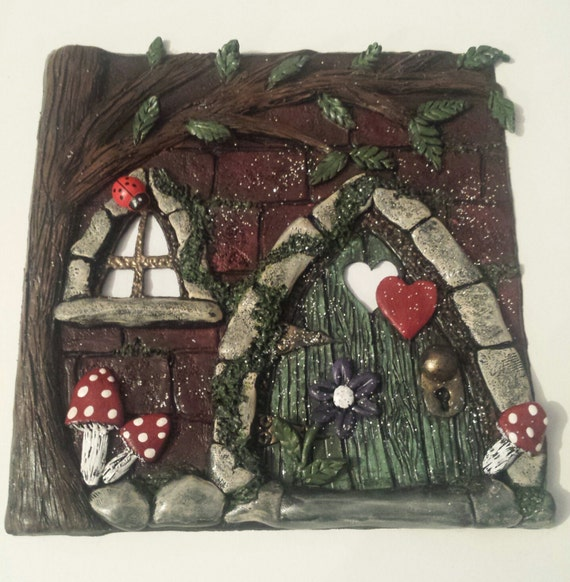 Fairy faerie door fairy house shadow box by for The faerie door