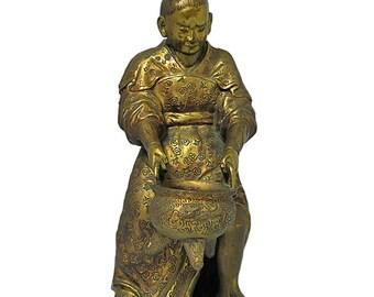 Japanese Meiji Period Gilt Bronze Figure 19th C