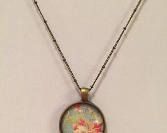 Antique Floral Necklace