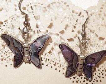 Butterfly seashell earrings