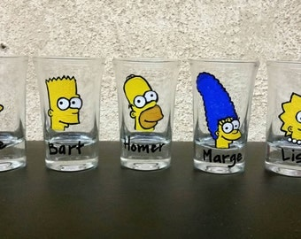 Simpsons Shot Glasses