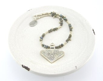 Labradorite & 925 Silver Necklace