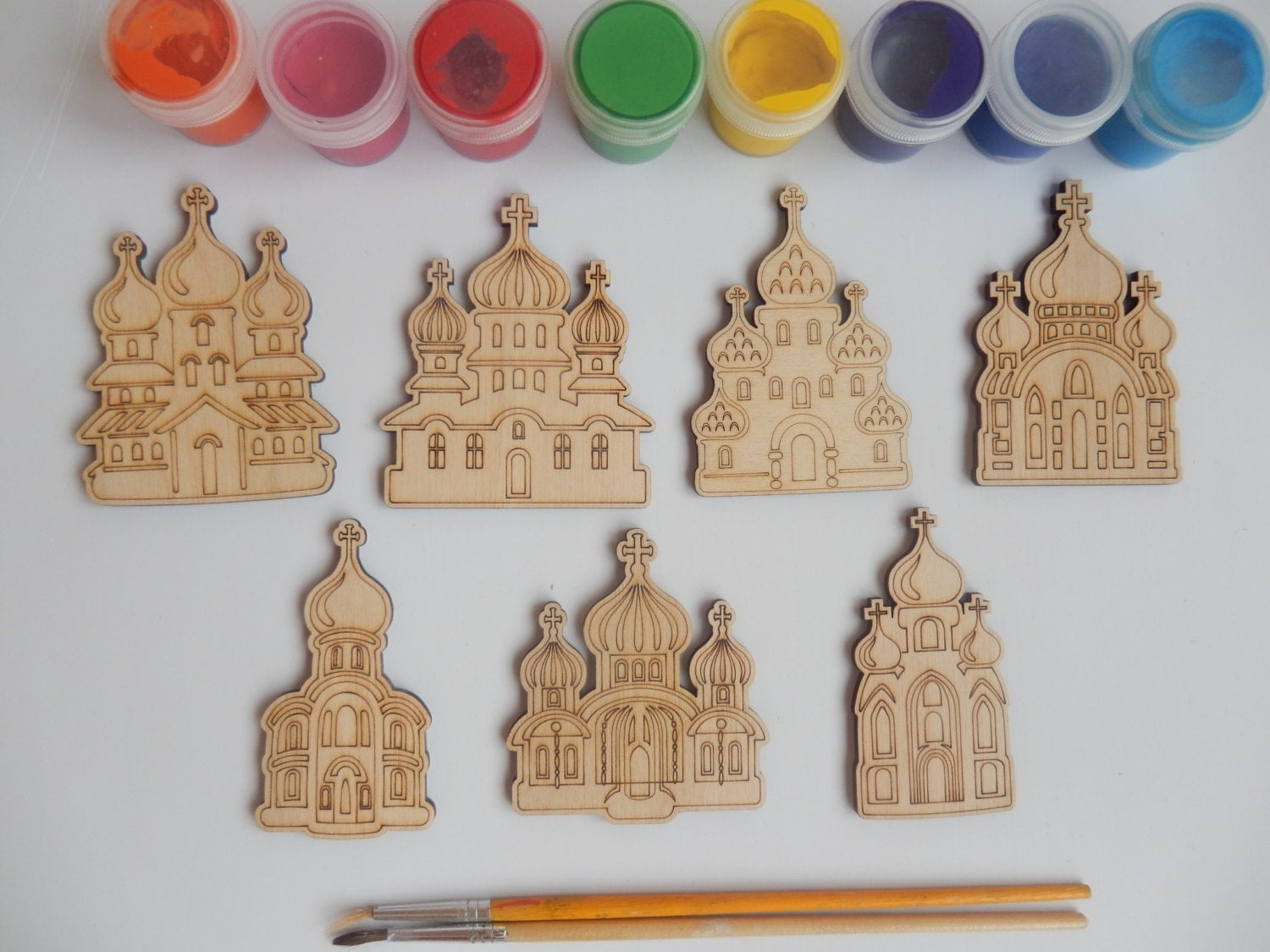 7 slavic churches wood craft shapes for kids and adult for Wood crafts for kids