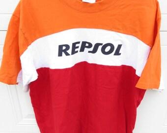 Vintage Repsol Motorcycle Pit Crew Team Shirt
