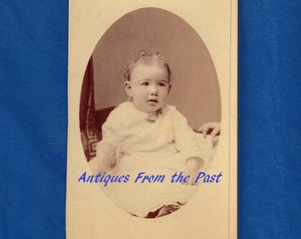 1880's CDV Carte de Visite Photo, Young Child, F. Forshew Hudson New York Duplicates Furnished at any time