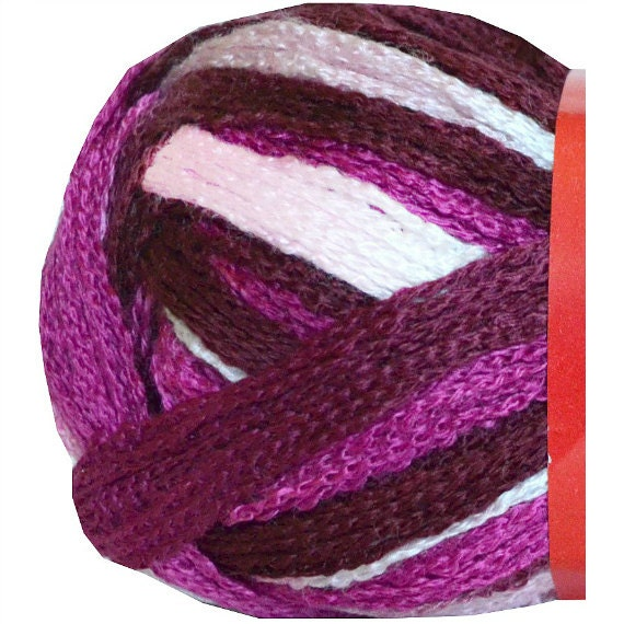 allora ruffle scarf yarn 325 feza yarns pink by