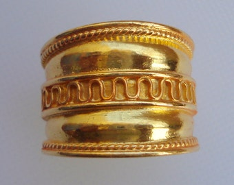 ethnic sterling silver gold vermeil gold gilded ring engagement band ring