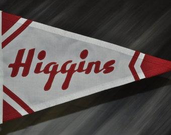 Higgins vintage burgee pennant flag 1946-1957
