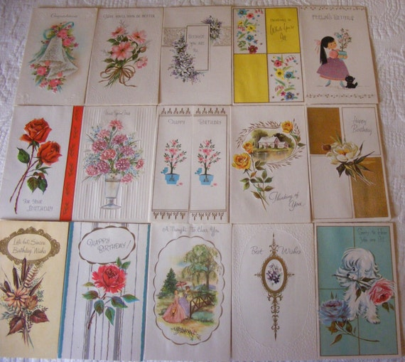 Vintage Wedding Card Unused Greeting Card 1960s 1950s: 25% Off 15 Unused 1960's Vintage Greeting By TheAtticOnBakerSt