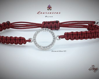 "Pulsera/Bracelet Zoey II  ""Zircons & Silver 925"""