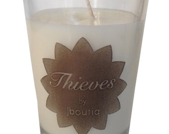 THIEVES organic soy candle made with pure essential oils