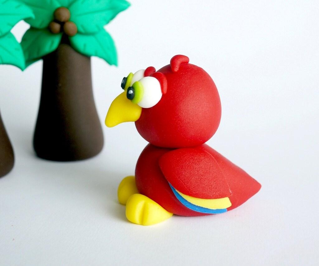 Parrot Cake Topper