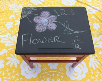 Chalkboard paint school desk