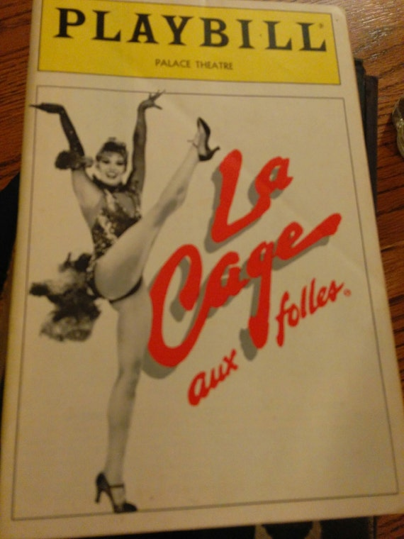 SAVE 25% WITH CODE: SAVE25 Vintage La Cage Playbill 1986