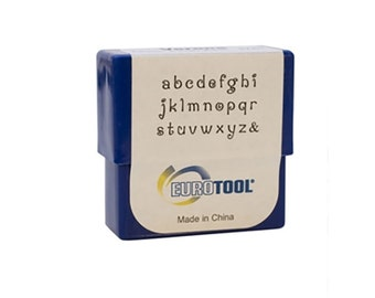 Verona Lowercase Alphabet Metal Stamp Set - Eurotool - 2mm Letter Stamps - Also known as Penguin or Delaney font