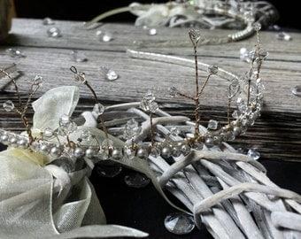 Swarovski Crystal & Pearl Tiara