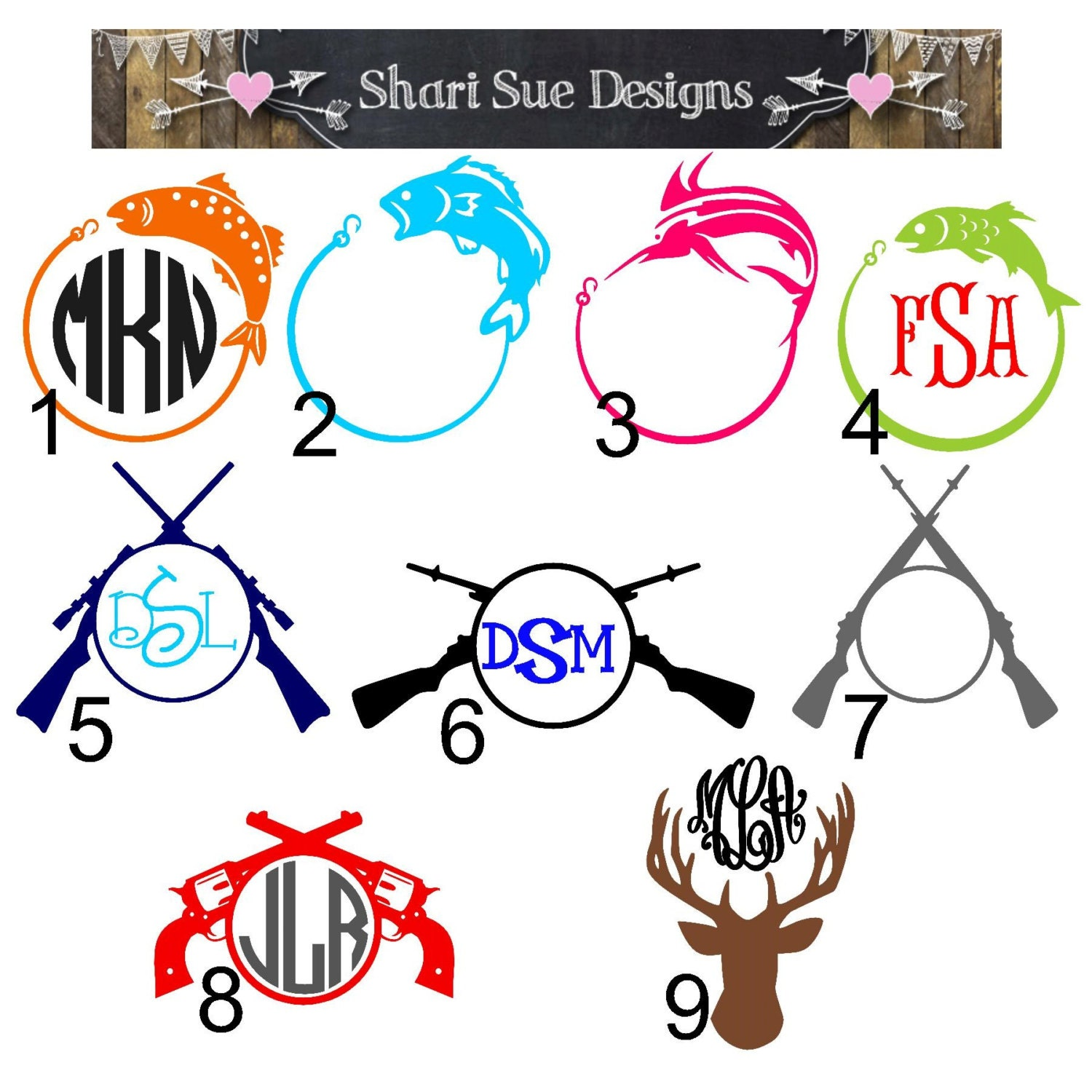 Hunting and fishing vinyl decals for Hunting and fishing decals