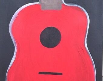Simple Red Guitar